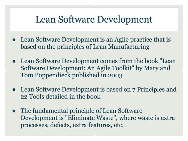 Lean Software Development by Marc Schweikert and Chris Bubernak ...